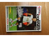 AUSTRIA V WALES World Cup Qualifying International Official Match Programme