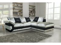 --CHEAPEST EVER PRICE-- BRAND NEW DINO CRUSHED VELVET CORNER SOFA AVAILABLE CORNER AND 3+2 SUITE
