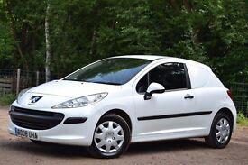Peugeot 207 HDI 70 CDV VAN 1.4 DIESEL Manual. 1 YEAR MOT FULL SERVICE HISTORY**2 OWNERS FROM NEW**