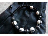 Skull shambala bracelet (new)