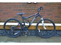 "MUDDY FOX CHAOS FULL SUSPENSION MOUNTAIN BIKE (18"" FRAME, 26"" WHEELS, EXCELLENT CONDITION, SERVICED)"