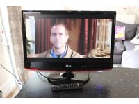 LG TV And PC Monitor With Remote Control VGC