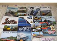 Selection of train and railway books, all in good condition.