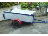 All metal 6 feet X 4 feet X 18 inches deep trailer
