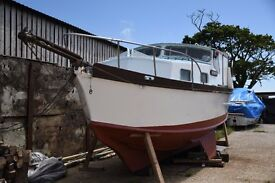 house boat live a board project 36 foot ketch motor sailer boat almost finished nice