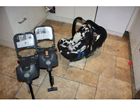 BRITAX SHR II Infant car seat with 2 Britax isofix bases