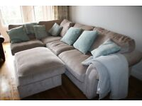 Corner sofa, good condition, suit a modern family home, attractive fabric covered