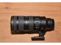 Nikon AF-S NIKKOR 70-200mm f/2.8G ED VR II lens, used but in excellent condition.