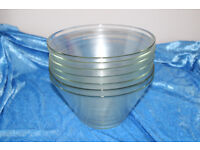 7 glass bowls - perfect for functions or weddings!