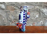 Unusual Sargadelos Ceramic Jug Man with Briefcase Milk Jug Spanish Colourful Spain Pottery Pitcher