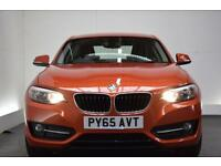 BMW 2 SERIES 1.5 218I SPORT [SAT NAV] 2d 134 BHP (orange) 2015