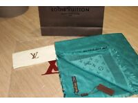 Luxury Louis Vuitton teal Scarf /Shawl - brand new