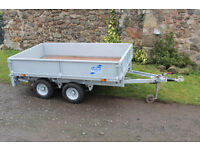LT85G iFor Williams Trailer 6x8 Flatbed with Drop Sides