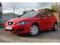 2009 SEAT LEON DIESEL +7 RECORDED SERVICES & BELT+ £30 TAX **NOT VW GOLF**