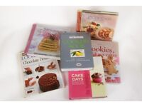 cookery books, six, nice condition,