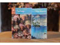 The rough guide to Turkey and to Dominican Republic guide books