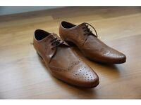 River Island Mens Smart Shoes, size 7, light brown
