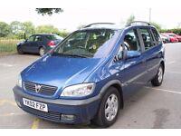 Vauxhall Zafira 1.8 i 16v Elegance 5dr 2002 (02 reg), MPV,,, AUTOMATIC