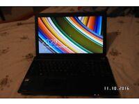 LAPTOP TOSHIBA C50d d-a138. 15 1/2 INCH 500GB HD 2GB MEMORY WIN 8.1