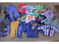 Large bundle of boys clothes 1,5 – 2 years