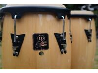 """Latin Percussion - 2 x 11.5"""" LP Aspire Congas 28"""" Height w/ Stands - Exotic Drums"""