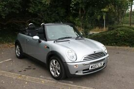 FROM £25 PER WEEK MINI CONVERTIBLE 1.6 PETROL MANUAL SILVER LOVELY LOW MILES FULL SERVICE HISTORY