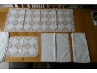 Linen and lace 1983 Hong Kong unused table set