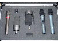 Audio Technica & Sennheiser - Pro Mic Kit - AT3525 - ATM29HE - E-845S - E-825S & FREE DSP110