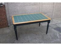 Tile Dining Table with Two Chairs