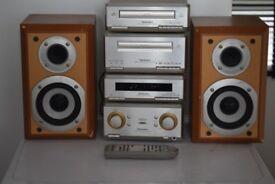 TECHNICS SEHD350 CD/RADIO/CASSETTE/AUXIN/REMOTE/73W/PLAY IPODPHONE