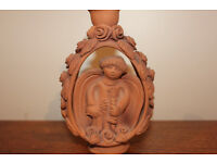Unusual Handmade Pottery Angel Candle Holder Religious Home Decor Christmas Decoration