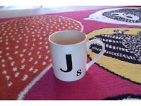 Brand new, boxed, initialled Scrabble mug