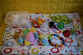 Bundle of baby toys and accessories