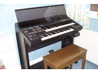 Yamaha Electone HS-7 Organ with a Yamaha CVS-10 Combination Voice Expander