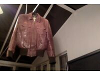 Quality River Island Leather Jacket, size small fitted