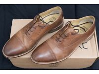 Mens NEXT smart tan leather shoes size 9 RRP £55