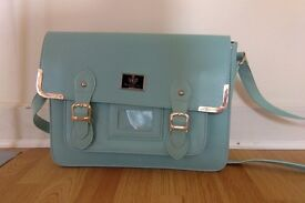 Cute Light Blue Satchel. Very Stylish. From smoke free home!