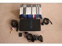 Sony PS2 with 21 games, controller, memory card and leads.
