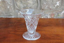 Vintage Crystal Vase Thomas Webb and Sons 1950 - 1966 Hand Cut Cristal Flower Vase