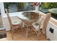 Table and two chairs, Bistro set.