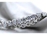 New 18ct White Gold 4.70ct F VS Diamond Tennis Bracelet