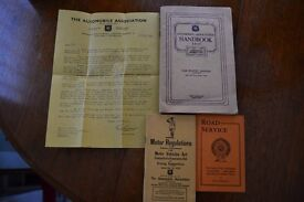 1937 AA books with letter and