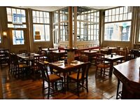Experienced waiters & bartenders sought for award-winning Shoreditch gastropub