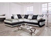 Vivien Crushed velvet corner sofa