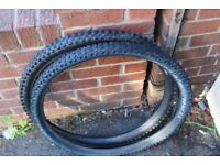 Pair 26inch Maxxis mountain bike tyres excellent little use