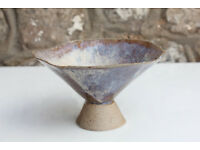 Unusual Handmade Art Pottery Vase / Bowl Culross Studio Pottery Scotland Sweet Dish Pot Pourri