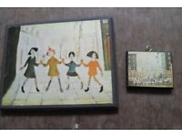 x2 Small L S Lowry Prints - simple but very colourful - Just £40 for both
