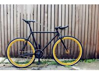 NEW IN ! Steel Frame Single speed road bike fixed gear racing fixie bicycle hhh