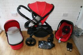 iCandy Peach 3 Sherbet (red / sand) pram travel system 3 in 1 ***can post***