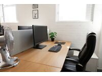Spacious Desk - In our own graphics studio in Spike Island